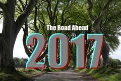 de weg van 2017 vooruit Stock Foto's