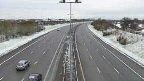 De weg van wegenautosnelwegen stock footage