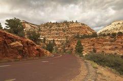 De weg van Zion nationalpark Royalty-vrije Stock Fotografie