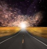 De weg verdwijnt op achtergrond stock illustratie