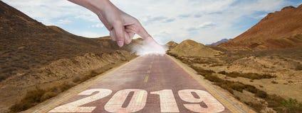 De Weg vooruit naar aan het begin van 2019 stock afbeeldingen