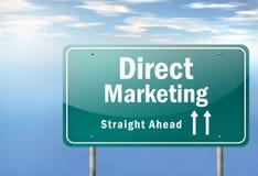 De weg voorziet Direct-marketing van wegwijzers stock illustratie