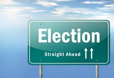 De weg voorziet Verkiezing van wegwijzers royalty-vrije illustratie