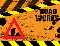 De weg werkt in aanbouw Stock Afbeeldingen