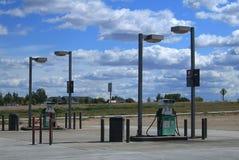 De Wegbenzinestation Tusen staten van Wyoming Royalty-vrije Stock Afbeeldingen