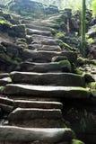 De wegen van de Berg van Tiantai Royalty-vrije Stock Afbeelding