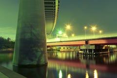 De wegen van de nacht Stock Foto's