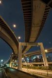 De wegen van de nacht Stock Fotografie