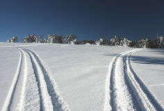 De wegen van de sneeuw Royalty-vrije Stock Foto's