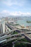 De Wegen van Hongkong Stock Afbeeldingen
