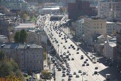 De wegen van Moskou Stock Afbeeldingen