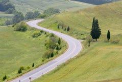 De wegen van Toscanië Royalty-vrije Stock Afbeelding