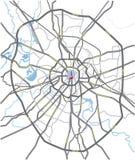 De wegenkaart van Moskou Stock Afbeeldingen