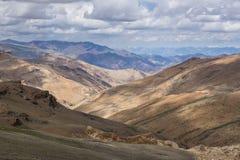 De weglandschap van Manalileh, Leh, Ladakh, India Royalty-vrije Stock Fotografie