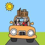 De wegreis van de familieauto Royalty-vrije Stock Foto's