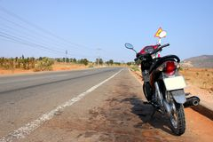 De wegscène van de motor in Vietnam Royalty-vrije Stock Afbeelding