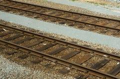 De wegsporen van het spoor stock foto's