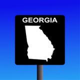 De wegteken van Georgië stock illustratie