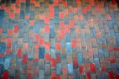 De wegtextuur van het terracotta Royalty-vrije Stock Afbeeldingen