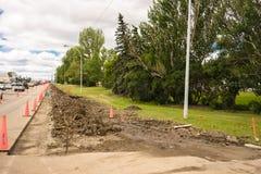 De wegverbetering van de stadsstraat project Royalty-vrije Stock Foto