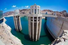 De weide van de Dam Hoover en van het Meer Stock Foto