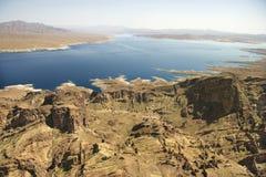 De Weide van het meer, Nevada. Stock Foto