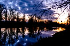 De weiden van het alluviale gebied van bos-steppestreek royalty-vrije stock foto