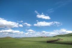 De Weiden van Wulanbutong, Chifeng, Binnenmongolië stock afbeelding