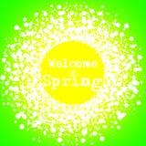 De welkom Hangende Affiche van de de Lente Groene Muur stock illustratie