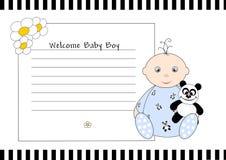 De welkom Jongen van de Baby Stock Foto