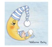 De welkom kaart van babygroeten Stock Afbeelding