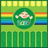 De welkom Kaart van de Baby Geboren Groet Royalty-vrije Stock Foto