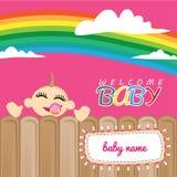 De welkom Kaart van de Babygroet Stock Fotografie
