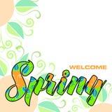 De welkom lente, abstracte achtergrond Stock Foto