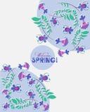 De welkom lente! De lentesamenstelling van decoratieve bloemen Royalty-vrije Stock Foto's