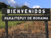 De welkom Staat van Zuid-Amerika Bolvar van de signaalstad Royalty-vrije Stock Afbeelding