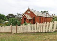De Welse GemeentedieKerk (1863) voor de Welse Onafhankelijke Kerk wordt gebouwd leidde de diensten in Bewoners van Wales tot 1893 royalty-vrije stock foto
