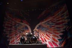 De Welse Kogel van de metalcoreband voor Mijn Valentine presteert bij Palladium Riga stock foto