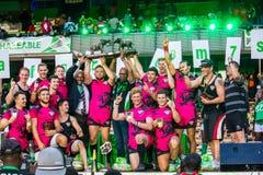 De Welse Strijders winnen Safaricom Sevens 2014 Stock Foto