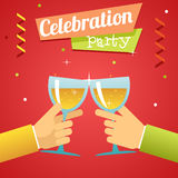 De Welvaartuitnodiging van het vieringssucces Royalty-vrije Stock Afbeelding