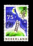 De wens het heelal toegankelijk voor zowel materiaal als immagination, Europa (C e P T ) serie, circa 1991 stock afbeelding