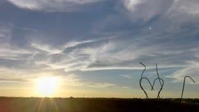 De wensen van de zon en het hart royalty-vrije stock foto