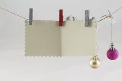 De wenslijst van de Kerstman Stock Foto