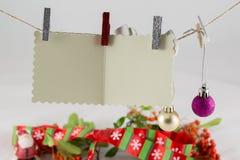 De wenslijst van de Kerstman Stock Foto's