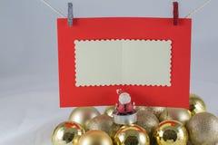 De wenslijst van de Kerstman Royalty-vrije Stock Foto