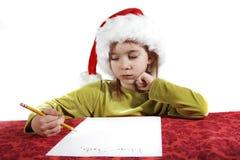 De wenslijst van Kerstmis Stock Foto