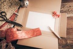 De wenslijst van Kerstmis voor Kerstman royalty-vrije stock foto