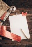 De wenslijst van Kerstmis voor Kerstman royalty-vrije stock fotografie