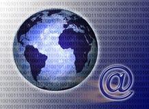 De wereld die door Technologie wordt verbonden Stock Foto