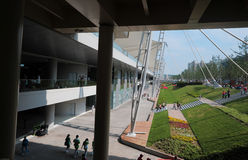 De Wereld Expo van Shanghai van 2010 - de bouw en groengordel Royalty-vrije Stock Afbeeldingen